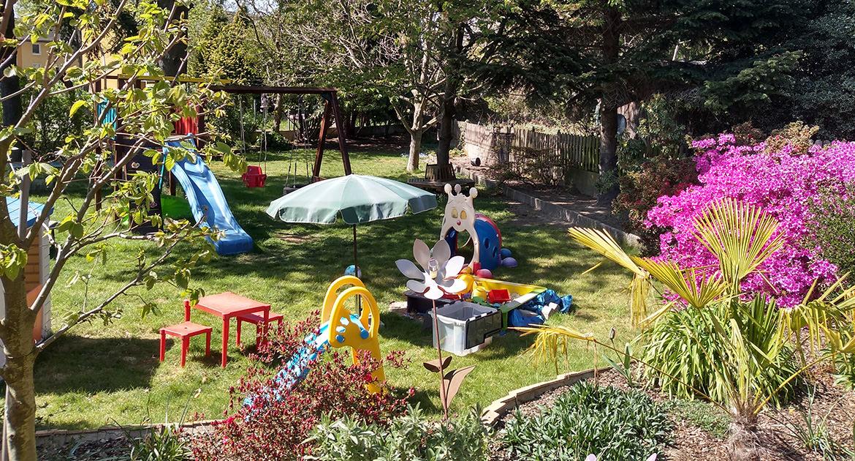 Der Garten unserer Kindertagespflege (KITA) in Baesweiler
